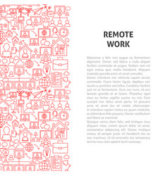 remote work line pattern concept vector image