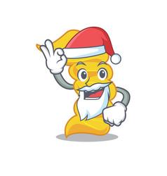 santa fusilli pasta mascot cartoon vector image