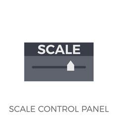 scale control panel icon vector image