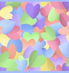 seamless pattern background with pastel hearts vector image