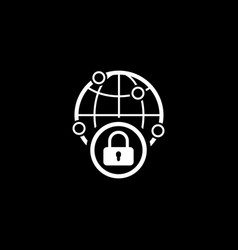 security point icon flat design vector image
