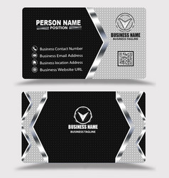 Silver black business card template psd free vector