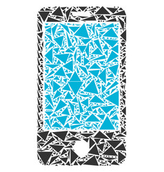 Smartphone collage of triangles vector
