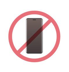 Smartphone in prohibition sign digital detox vector