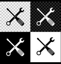 spanner and screwdriver tools icon isolated on vector image