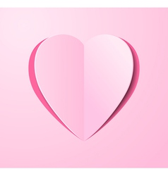 Stylized paper heart bent middle vector