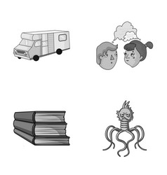 Travel education and other monochrome icon in vector