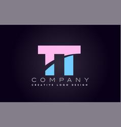 Tt alphabet letter join joined letter logo design vector