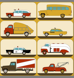 Urban transport wallpaper stickers for children vector
