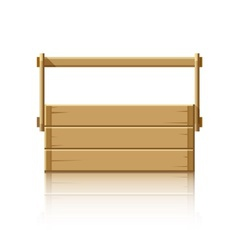 Wooden box for tools vector image
