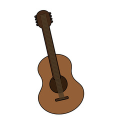 acoustic guitar icon image vector image