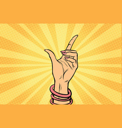 female hand hold gesture vector image vector image