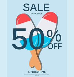 abstract designs sale banner template vector image vector image