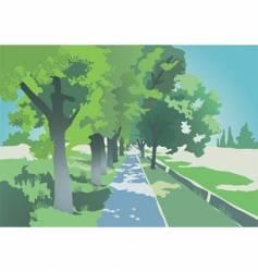 avenue vector image vector image