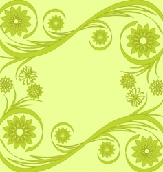flower background with butterfly vector image vector image