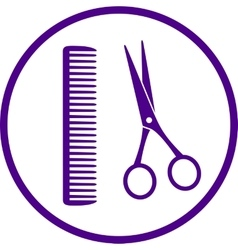 hairdresser sign with scissors vector image vector image
