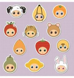 kids stickers vector image