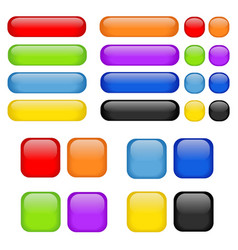 rainbow buttons set vector image vector image