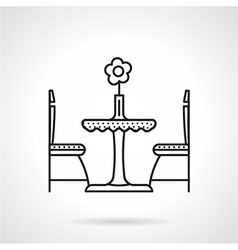 Table for two black line icon vector image vector image