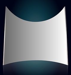 White projection screen vector image vector image