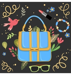 Woman handbag background vector image vector image