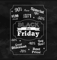 black friday sale monochrome background vector image