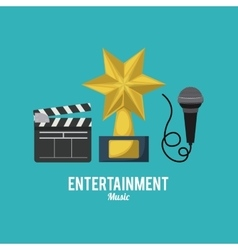 entertainment icons design vector image vector image