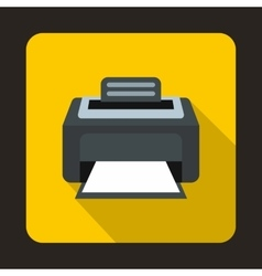 Modern laser printer icon flat style vector image vector image