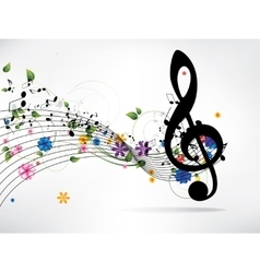 Musical abstract background vector image