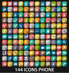 Set phone icon vector image