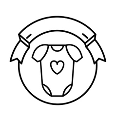 Baby bodysuit seal stamp vector
