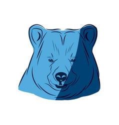 blue head bear animal free spirit symbol vector image vector image