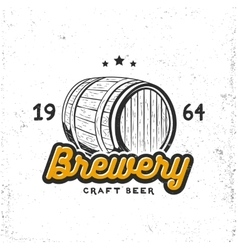 Creative logo design with beer barrel vector image vector image