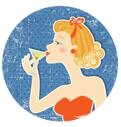 drink martini vector image vector image