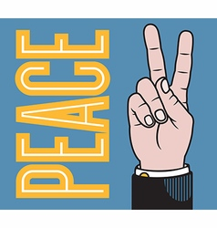 Peace or Victory hand vector image vector image