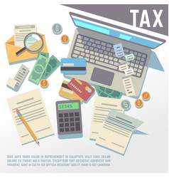 tax calculation financial report accounting vector image