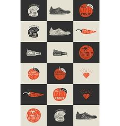 Trendy Retro Vintage Insignias Bundle vector image