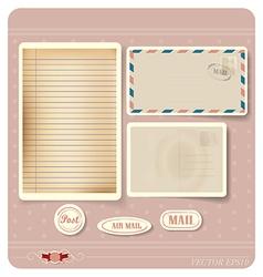 vintage paper postcard envelope vector image