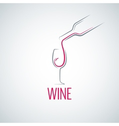 Wine glass concept menu background vector