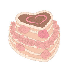 A cake for birthday vector