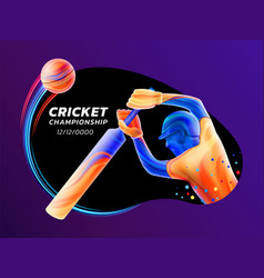 Abstract of batsman playing vector