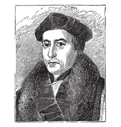 Archbishop thomas cranmer vintage vector