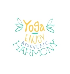 Ayurvedic Harmony Hand Drawn Promotion Sign vector