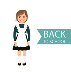 back to school kid in uniform vector image