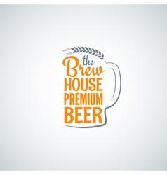 beer bottle glass background vector image