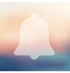 Bell icon on blurred background vector