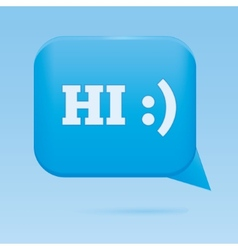 Blue speech web bubble vector