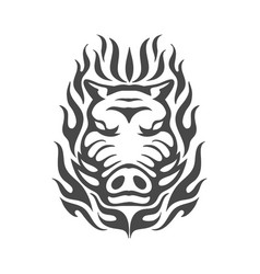 boar logo design vector image