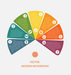 Business chart modern infographic template from vector