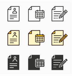 Business report icons set vector